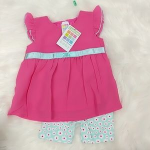 Healthtex Girls Pink Shear Sleeveless Outfit With